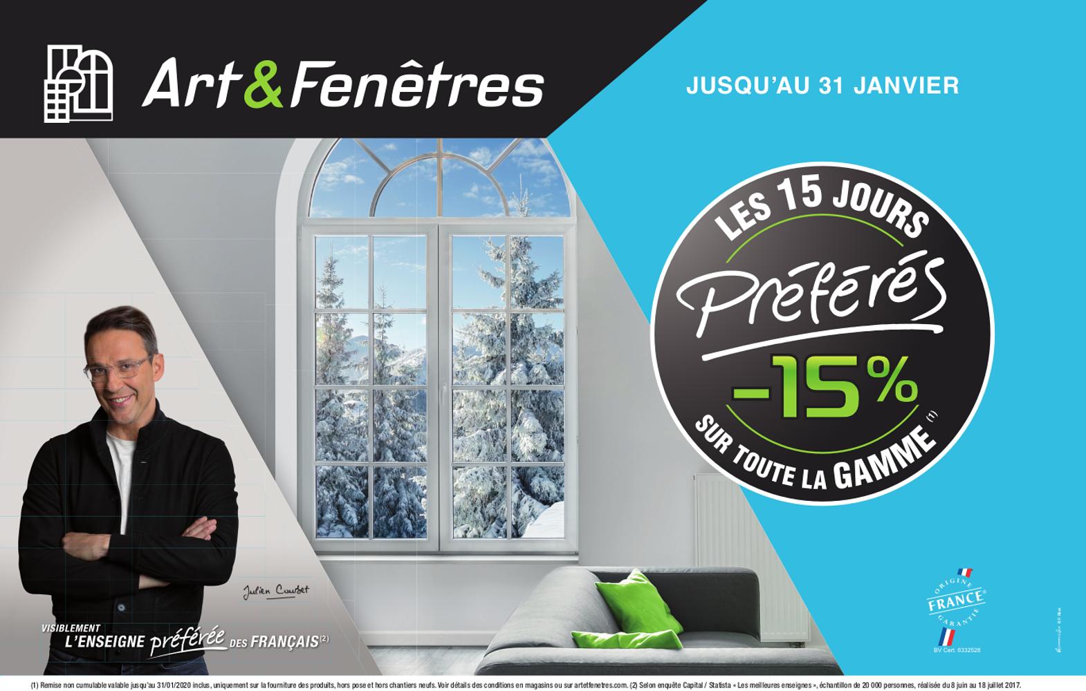 - 15 % sur toute la gamme Art & Fenêtres 0