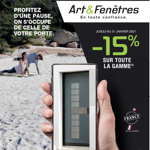- 15% sur la gamme Art & Fenêtres