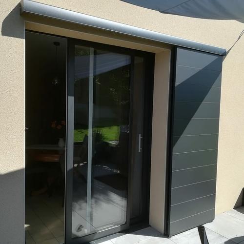 Installation d''une porte-fenêtre avec volet coulissant - Ille-et-Vilaine (35)