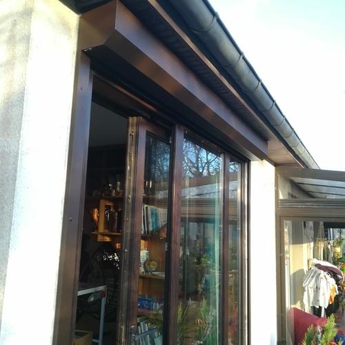 Menuiseries extérieurs - baie vitrée aluminium et volets motorisés