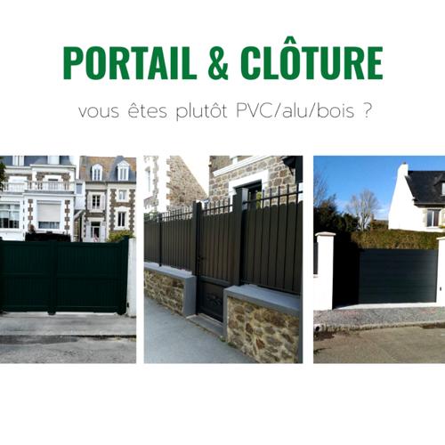 Portails et Clôtures sur-mesure : PVC ou alu