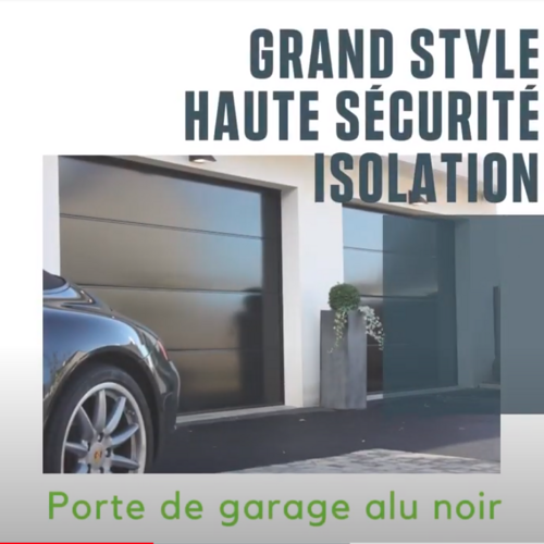 PORTE DE GARAGE - SECTIONNELLE PLAFOND - COLORIS NOIR -