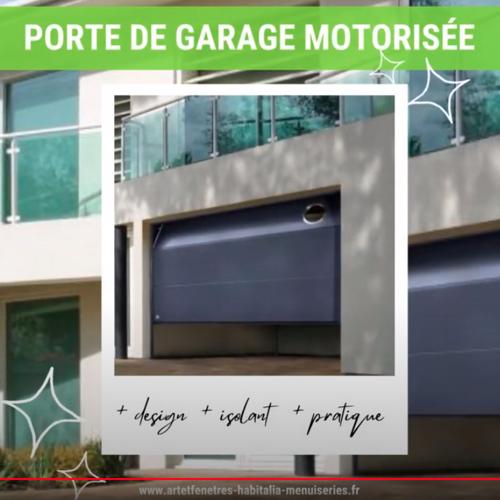 PORTE DE GARAGE- SECTIONNELLE PLAFOND MOTORISÉE- SUR MESURE - COULEUR AU CHOIX