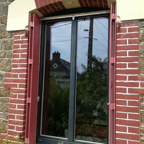 Rénovation fenêtre alu ouverture à la française