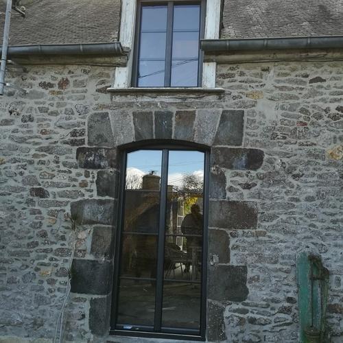 Rénovation fenêtres la françaises en grande hauteur - Plouer sur Rance