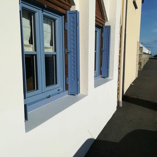 Rénovation fenêtres - PVC bleu