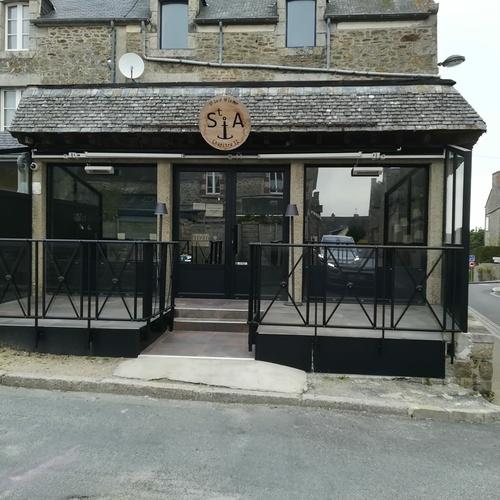 Rénovation vitrine et porte entrée bar restaurant - Saint Jacut de la Mer