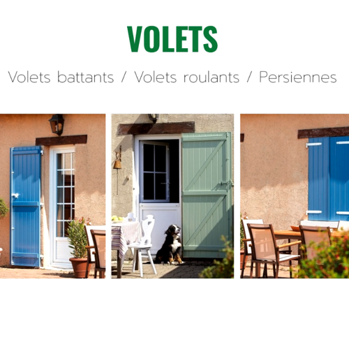 Volets coulissants, battants ou roulants