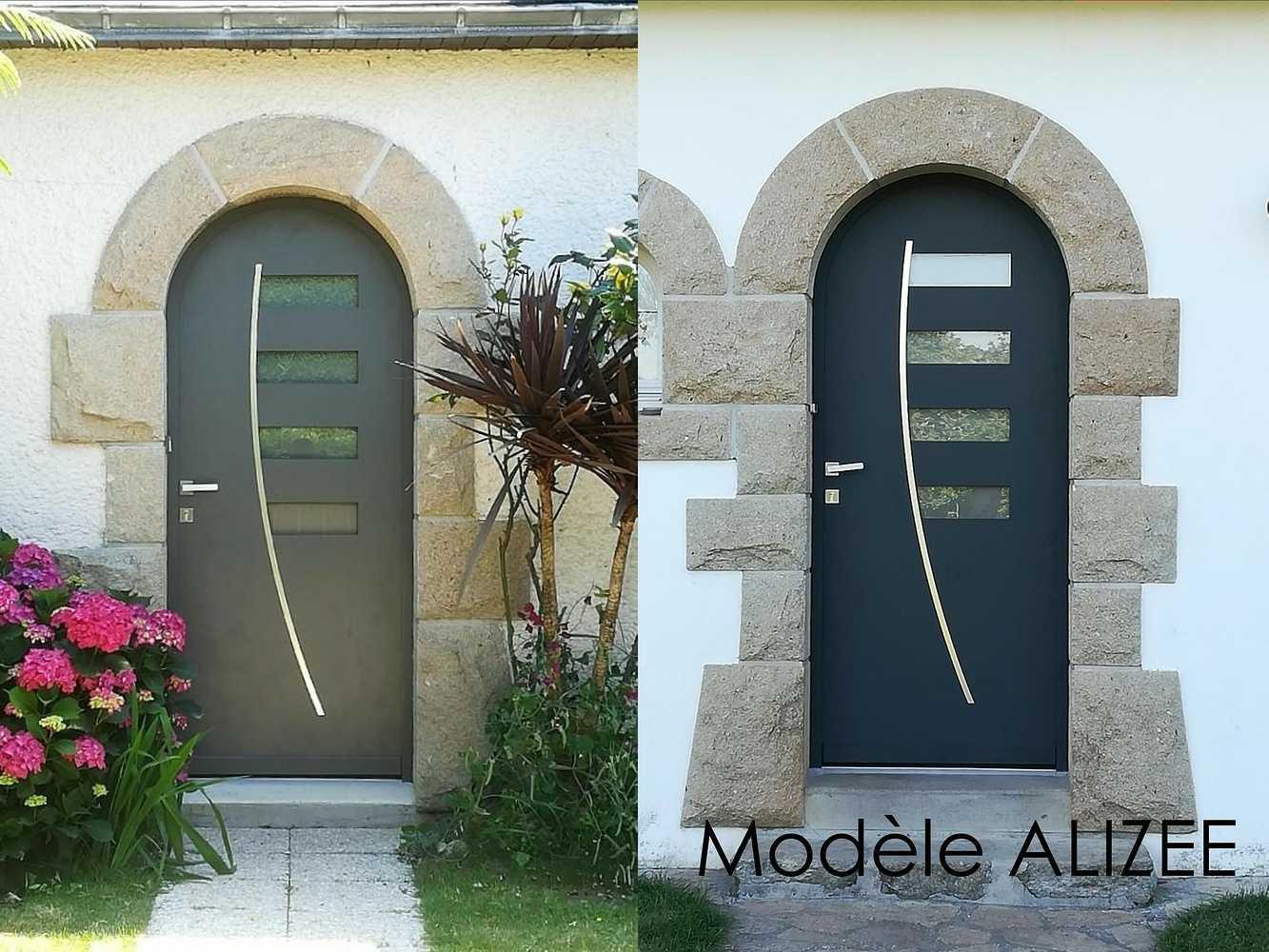 Porte d''entrée cintrée - Modèle Alizée 0
