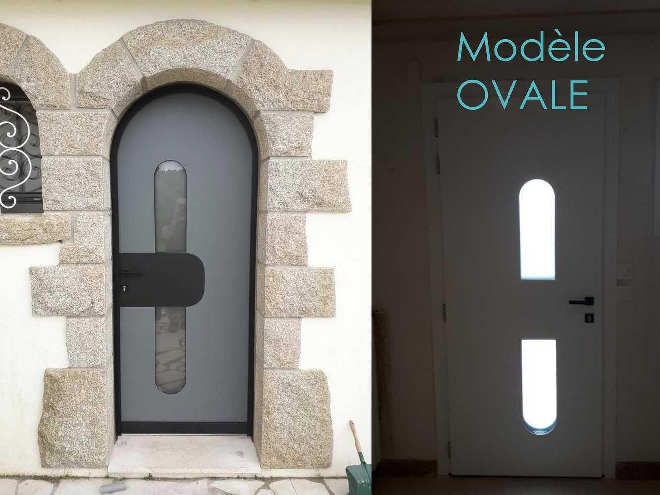 Porte d''entrée - Modèle Ovale 0