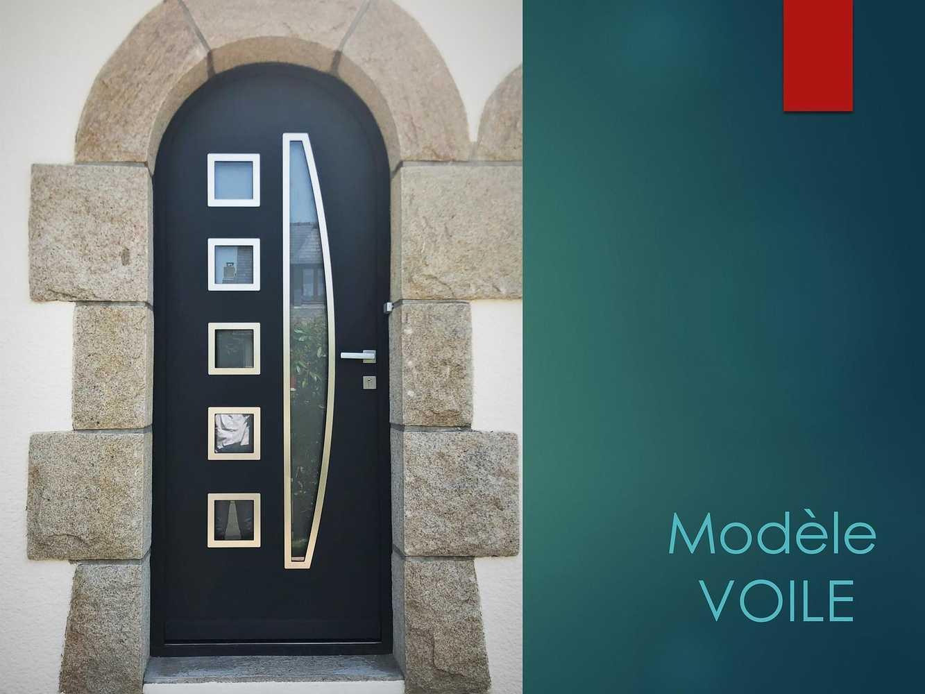 Porte d''entrée - Modèle Voile 0