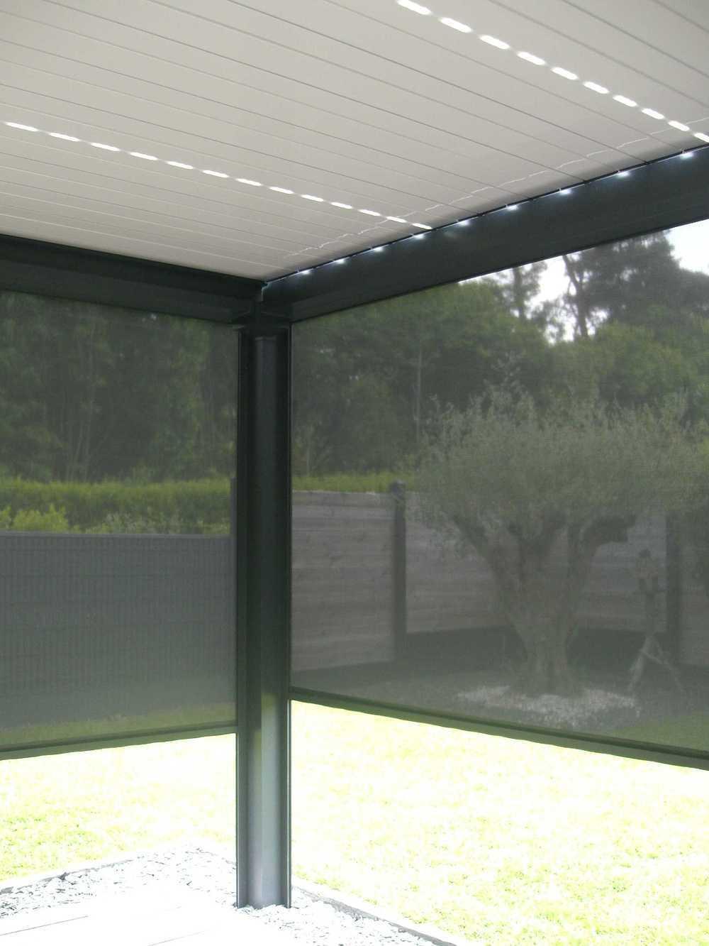 Installation d''une pergola bioclimatique - Melesse (35) realisationpergolavuesurlesledsstores