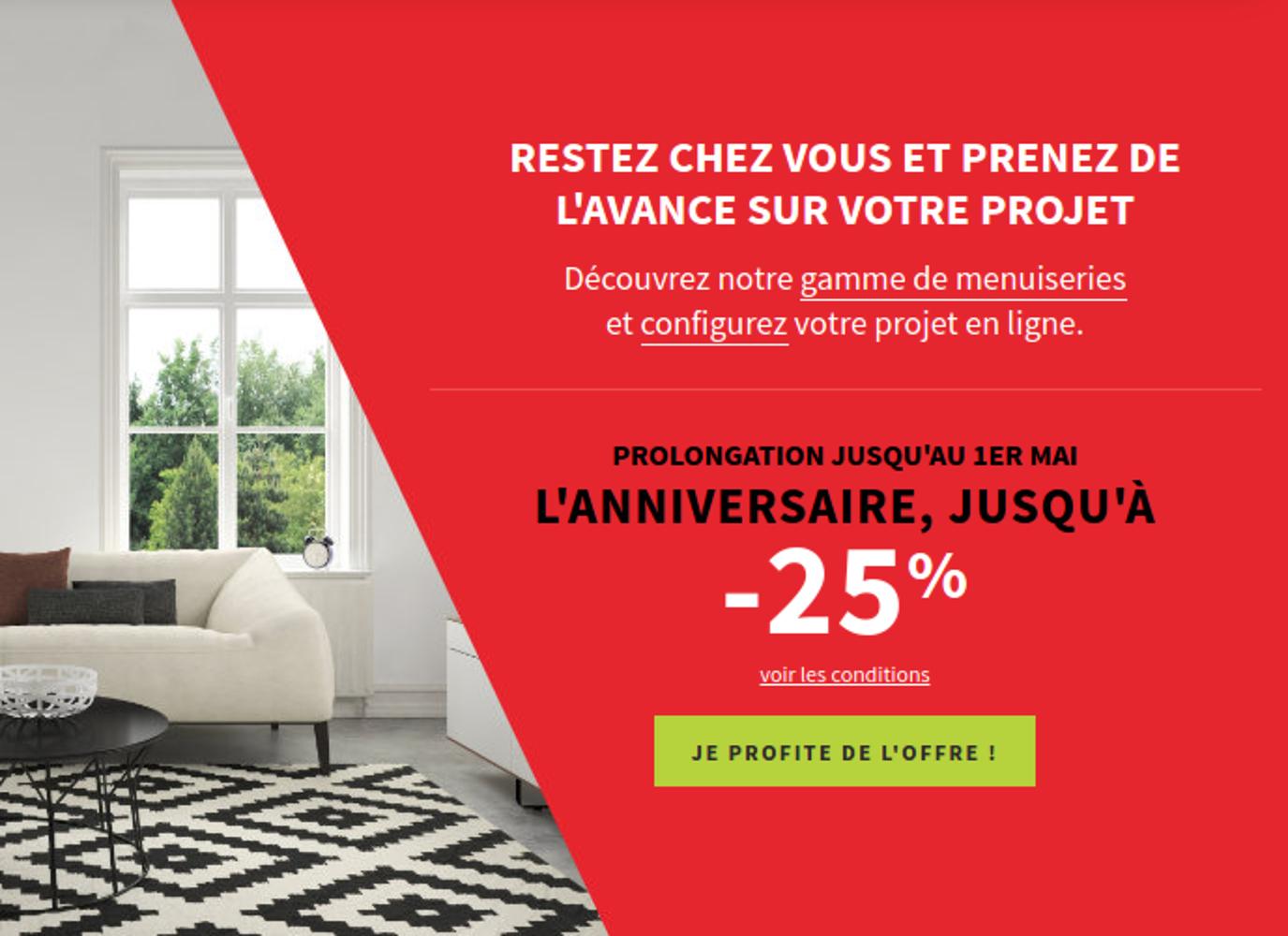 Jusqu''à -25% sur les fenêtres Art& Fenêtres : prolongation 0