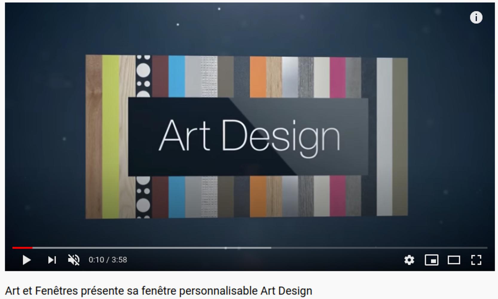 La fenêtre personnalisable Art Design 0