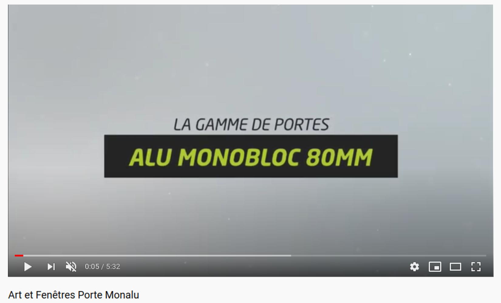Porte d''entrée Monalu - Art&Fenêtres - vidéo 0