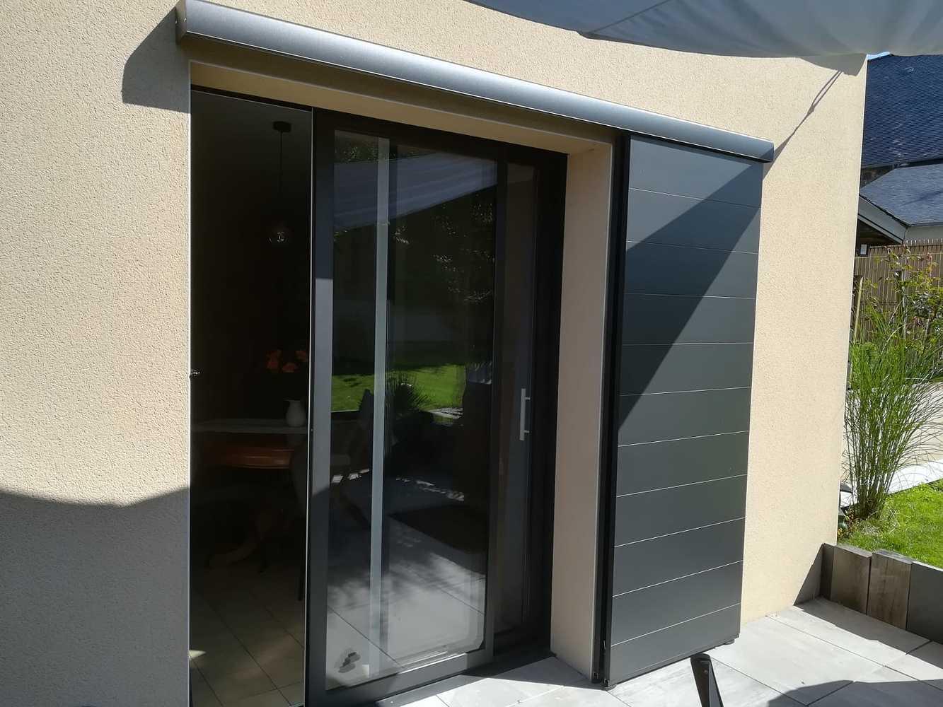 Installation d''une porte-fenêtre avec volet coulissant - Ille-et-Vilaine (35) 0