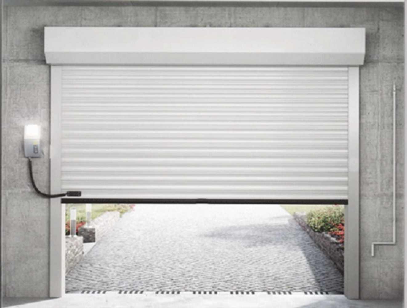Porte de garage sectionnelle à enroulement 0