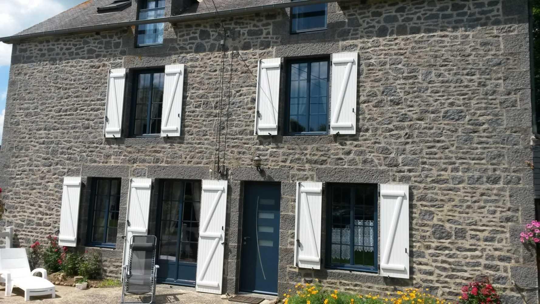 Rénovation porte entrée alu fenêtres la française alu et volets battants 0