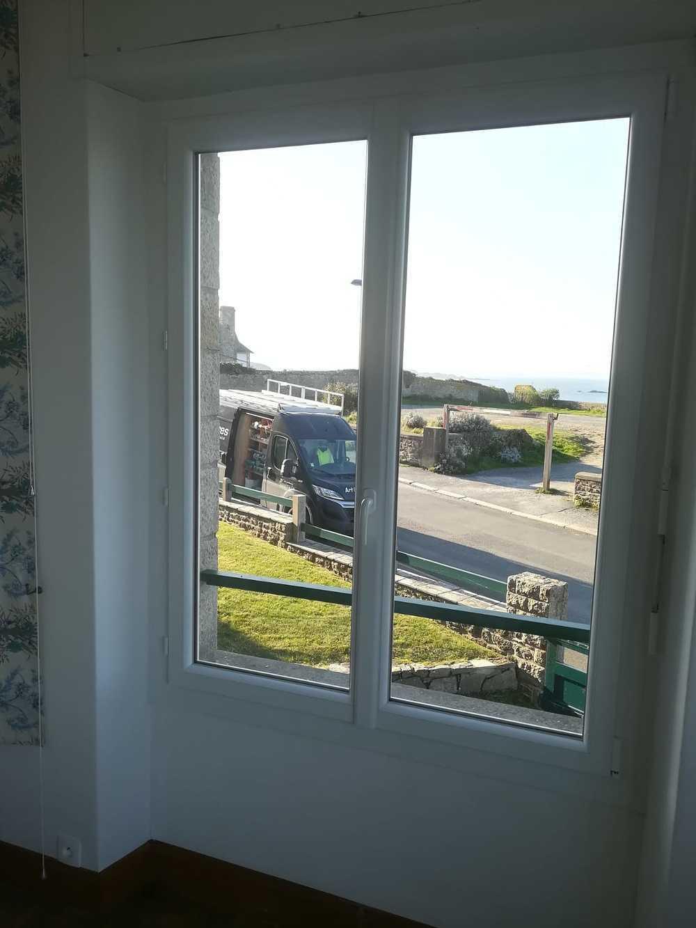 Rénovation menuiseries extérieures PVC banc pour appartement centre ville 4
