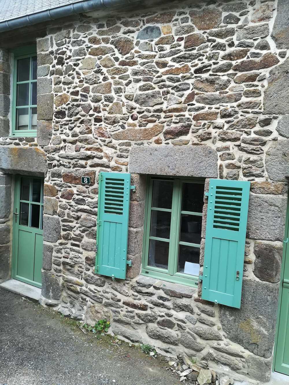 Porte entrée fermière et fenêtres PVC - vert 0