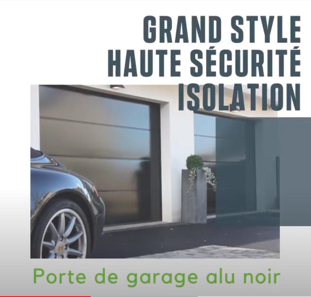 PORTE DE GARAGE - SECTIONNELLE PLAFOND - COLORIS NOIR - 0