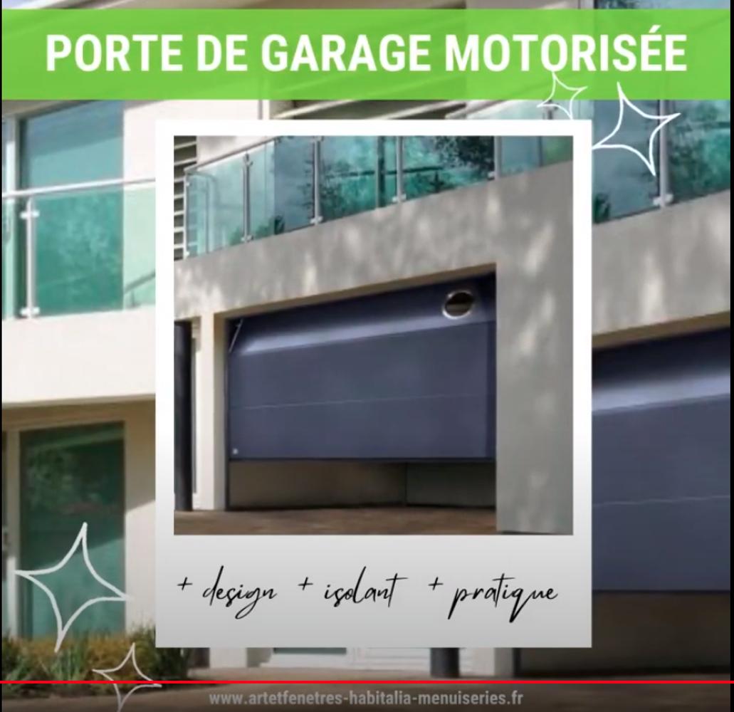 PORTE DE GARAGE- SECTIONNELLE PLAFOND MOTORISÉE- SUR MESURE - COULEUR AU CHOIX 0