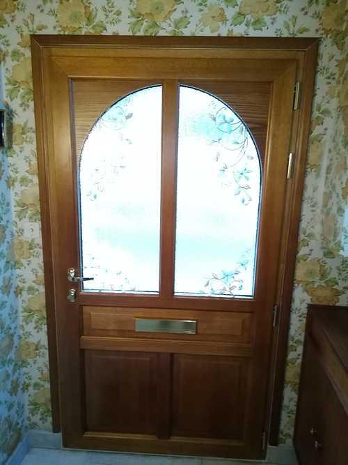 Porte d''entrée aluminium vitrée - cintrée- Saint-Malo 0eddebaf-7c82-4c49-a183-73d5f131df32