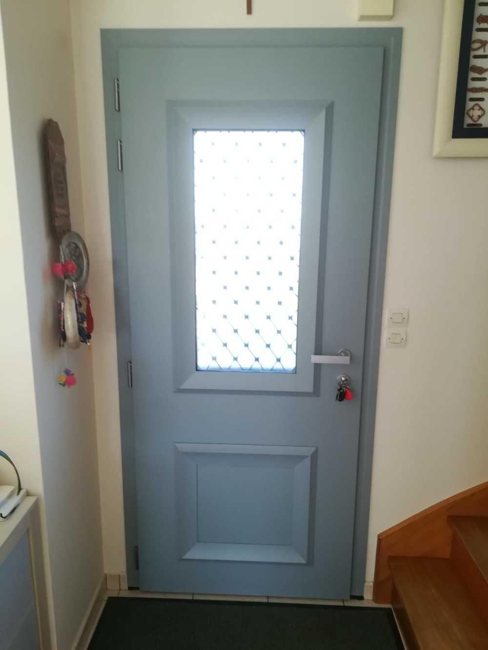 Porte entrée type fermier avec grille fer forgé rétro - Lanvallay ff3f5a69-3cfc-4019-a8c9-e169850f563c